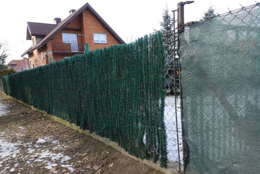 ogrodzenie z materiałów sztucznych