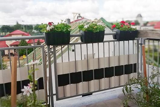 osłona balkonu - taśmy ogrodzeniowe thermoplast